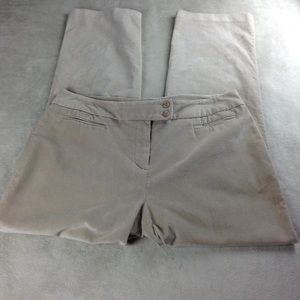 Dressbarn Size 16 Corduroy Pants Stretch Khaki